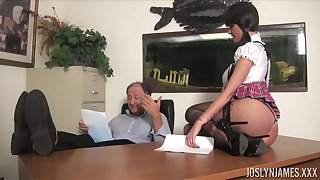 Sexy coed gets an A grade for fucking her old professor