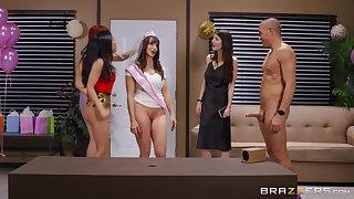 Crazy ass hardcore sex with a bunch of hot women