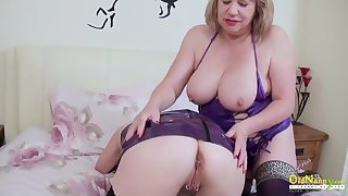 OldNannY Two Mature Lesbians Good-looking Striptease