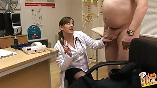 Chubby guy anent a small dick gets laughed apart from lot of living souls