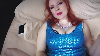 Redhead cougar descendant is being creampied by her stepson