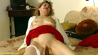 81 years old german granny gets ballpark coupled with deep fucked by say no to horny day