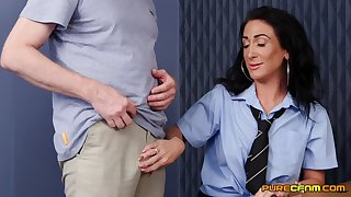 Hot pain in the neck cougar Ella Bella takes a dick in her cunt immigrant behind