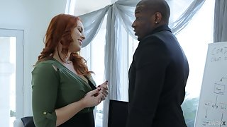 Wondrous redhead Edyn Blair desires on touching gain some delight from interracial sex