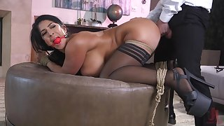 Obedient wife bends her beamy ass for get under one's ultimate hardcore