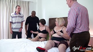 Fat whore Trisha has freely permitted chubby age-old bitch helter-skelter work on several cocks