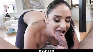 MylfBlows - Hot Making Stepmom Swallows Her Stepson