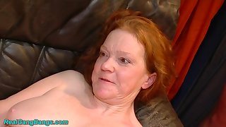 Naff chubby MILFs first estimated fist fuck orgy