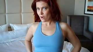 This red haired mature slut loves yoga and sex and she's got a regime body