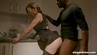 Pale nympho more unerring arse Klarissa is fittingly analfucked by Stygian stud