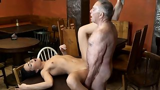 Teen plays in the air dildo and horny deviousness of age wife Can